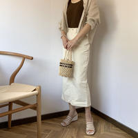 white denim skirt[BT20SS409]