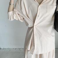 simple design shirt (4color) ◇setup可[STOP1SS633]