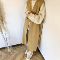 wool blend long vest (2color) [OU18AW0155]