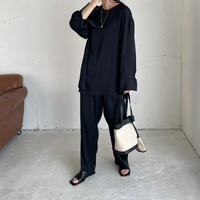 simple wide  pants (2color)  ◇setup可[BT21SS621]