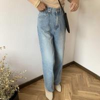 high-waist wide denim [TOP20SS351]