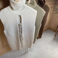 back shan highneck knit vest (3color) [TOP20AW505]