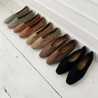 inner fur nuance color flat shoes  [SH19AW0124]