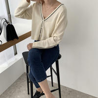 piping knit cardigan[TOP20AW531]