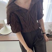 handmade collar knit[TOP21SS763]