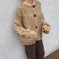 cable knit lose cardigan [TOP19AW0101]