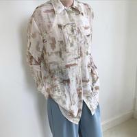 mosaic print shirt (2color)[TOP20AW459]