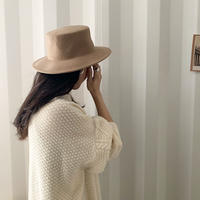wool100 round hat (3color) [HAT20AW511]