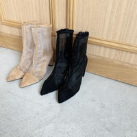 pointed toe sheer boots (2color)