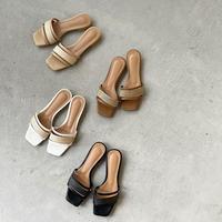 jute flat sandal (4color)