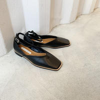 ancrebelt squaretoe shoes  [SHO20AW512]