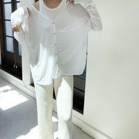 sheer cutsew cardigan (2color)[TOP20AW455]