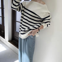 border boatneck knit[TOP20AW458]