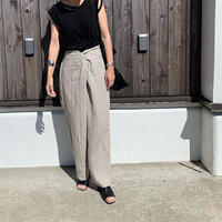 flont twist linen pants (2color)