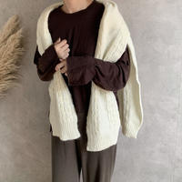 stole design knit (2color)  [TOP19AW0127]