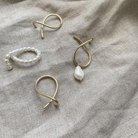 pearl design ear cuff set (2type) [ACC20SS333]