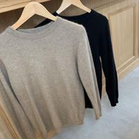 basic crew neck knit (2color) [TOP19AW202]