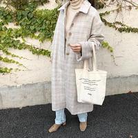soft check long coat