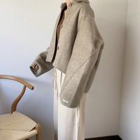 herringbone wool handmade short coat)[OU20AW469]
