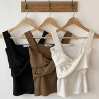 front twist camisole (3color)[TOP20SS412]