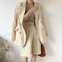 linen double jacket (2color) [OU20SS378]