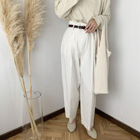 belt set high-waist pants  [PT20SS318]