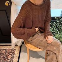 オンライン限定 lose over knit (3color)