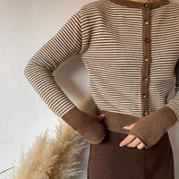 armhole border knit cardigan (2color)[TOP20AW589]