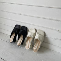 square toe wedge sandal (2color)[SH21SS655]