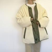 reversible quilt pedhinn coat  [OU19AW0185]