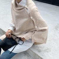 button shawl cardigan (2color)[TOP20AW467]