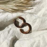 Big hoop wood pierce