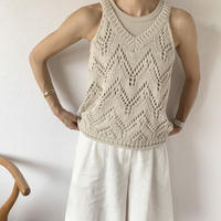 crochet knit tank [TOP20SS411]