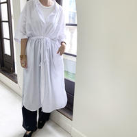 waist gather shirt one-piece (2color)[OP20AW456]