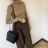 High neck rib knit (2color) [TOP20AW235]