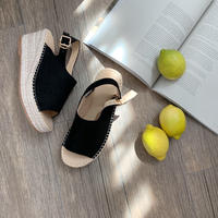 Jute wedge sole sandal