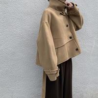 handmade high neck shortcoat(2color)[OU20AW475]