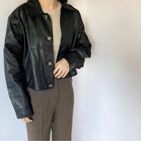 fake leather jacket [OU19AW0165]