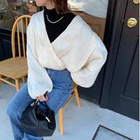cache-coeur balloon blouse (2color)[TOP20AW569]