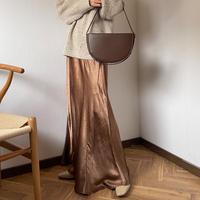 satin maxi skirt (3color)[BT20AW580]