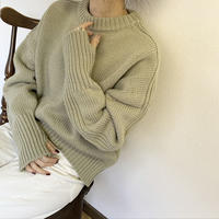 Thumb hole knit (3color) [TOP19AW0177]