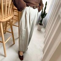 belt set color pants  (2color) [TOP19AW0078]