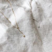 [silver925]ball Y necklace (2color)