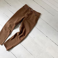 brown denim pants [BT19AW0105]
