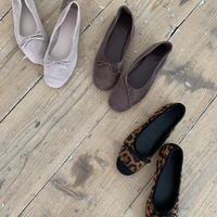 toecap leopard flat shoes (3color)  [SH19AW0122]