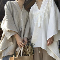 [original] dress shirt linen poncho (2color) [TOP20SS338]