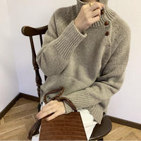 walnut button knit tops (2color) [TOP20AW205]