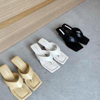 square thong sandal (3color)