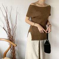 rib Knit(2color) [TOP20SS418]