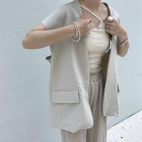 long jacket vest (2color)[TOP21SS725]